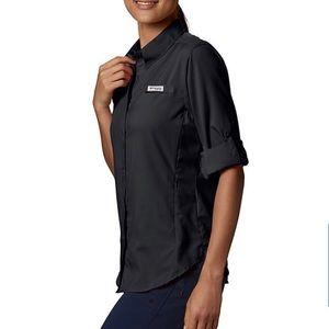 Columbia PFG Snap Button Long Sleeve Top S